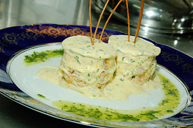 Лазанья с морепродуктами от ресторана «Пулман»