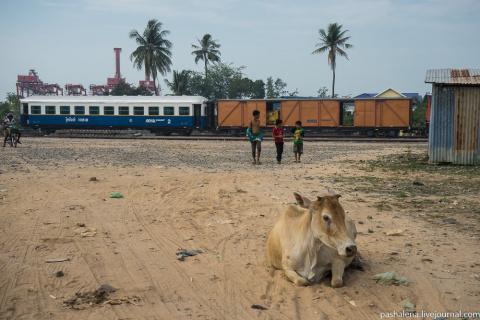 На поезде по Камбодже со ско…