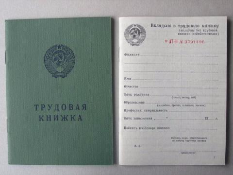 История трудовых книжек