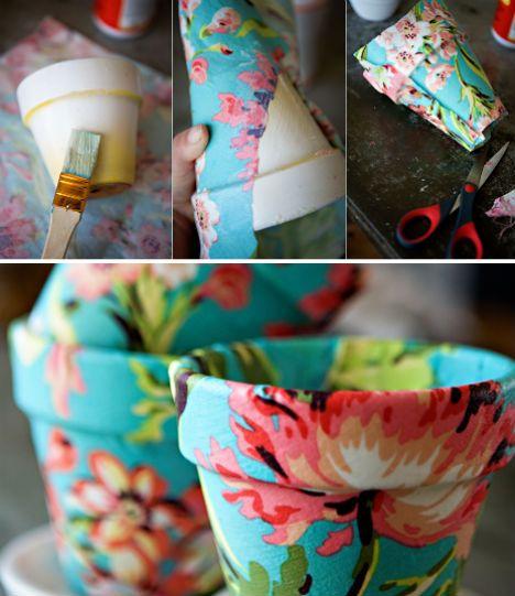 Идеи украшения горшков для цветов