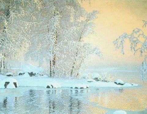 Волшебная зима художника Gustaf Fjaestad