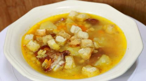 Очень вкусный гороховый суп