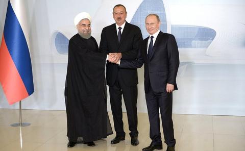 Трёхсторонняя встреча глав Азербайджана, Ирана и России -/- Новости недели -/- Администрация Президента России
