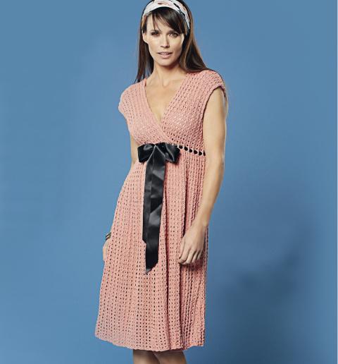 Ажурное платье с завышенной …