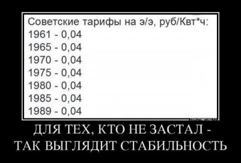 Для тех, кто не жил в СССР: так выглядит стабильность