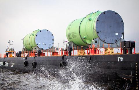 На Ленинградскую АЭС-2 доставлен корпус реактора для строящегося энергоблока №2