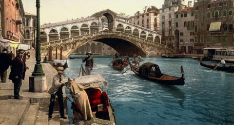 30 цветных фотографий Венеции в 1890-е годы