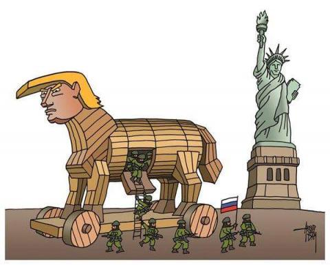 Подборка карикатур на тему американо-российских отношений