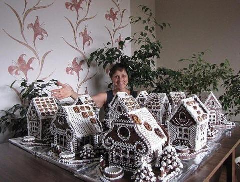 Удивительные пряничные домик…