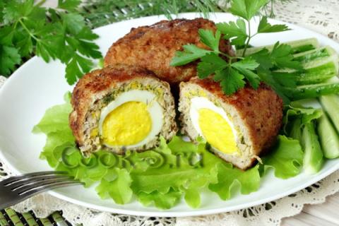 Котлеты с яйцом внутри