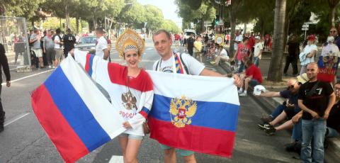 Футбольный фанат из России п…