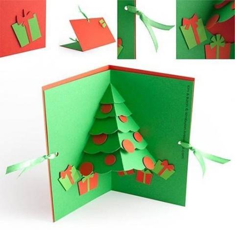 Делаем новогодние открытки. …