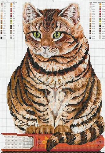 Котики ... 14 схем для вышив…