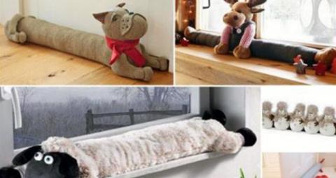 Милые подушки от сквозняков …