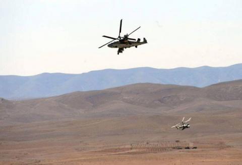 Ка-52 «Аллигатор» «размолотил» технику и укрепления боевиков в Сирии
