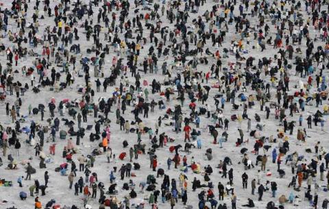 1484. В Южной Корее прошел ежегодный праздник «Ледовый фестиваль Sancheoneo»
