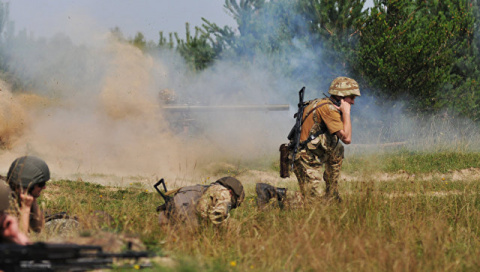 Украинские силовики оборудую…