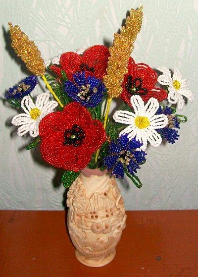 Полевые цветы. | БИСЕРНЫЕ РОЗЫ