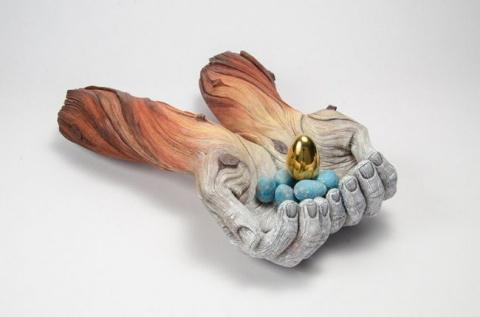 Скульптуры из керамики, имит…