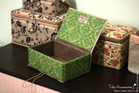 Коробочки шкатулки из картона своими руками