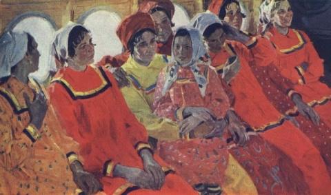 Соцреализм: картины советских художников о полётах, аэропортах и людях труда