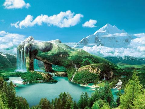 Самые необычные и удивительные иллюзии, созданные природой