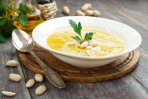 Ореховый Спас: суп-пюре из нута с арахисом
