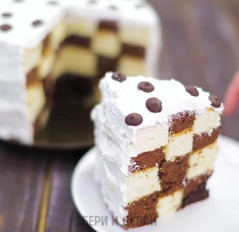 Как сделать торт с шахматной…