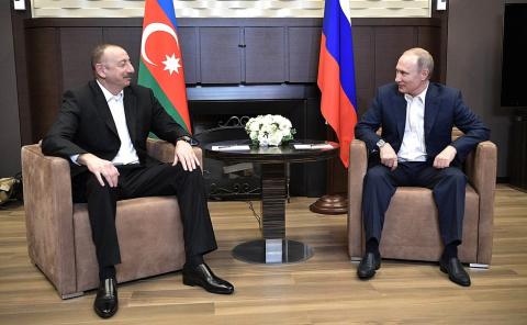 Путин и президент Азербайджана обсудили урегулирование конфликта в Нагорном Карабахе