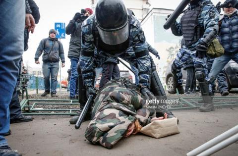 «Русский марш» в Москве (фото).