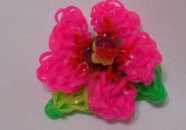 САМОДЕЛКИ. Цветы из резинок