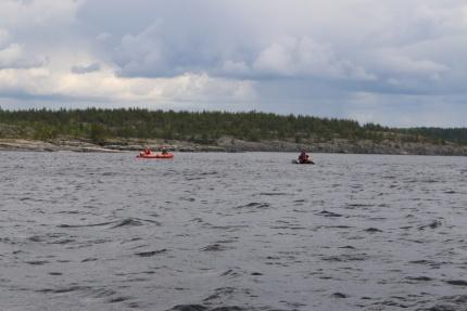 На Ладожском озере продолжаются поисково-спасательные работы