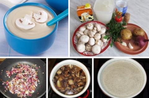 Грибной суп-пюре из шампиньо…