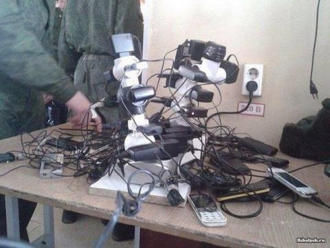 Как в армии зарядить всем телефоны