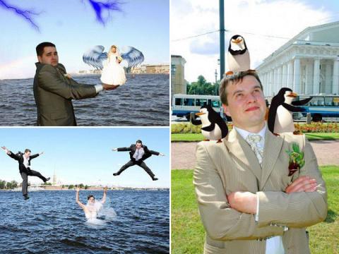 Свадебные фотографии после фотошопа (21 фото)