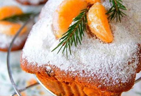 Кекс с мандаринами «Новогодн…