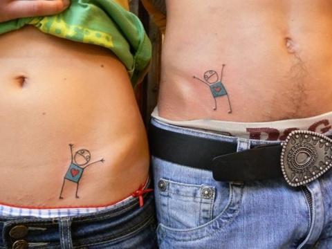 Татуировка одна на двоих: 17 отличных идей для влюбленных