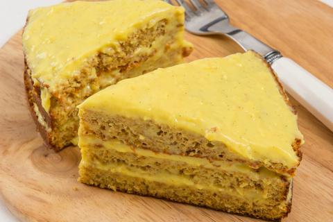 Бисквитный медовик для вкусной диеты