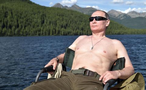 Владимир Путин на рыбалке в …