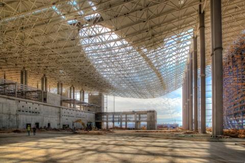 Полностью завершен монтаж металлоконструкций нового терминала аэропорта «Симферополь»