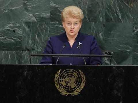 Делегация РФ в ООН покинула зал перед выступлением президента Литвы
