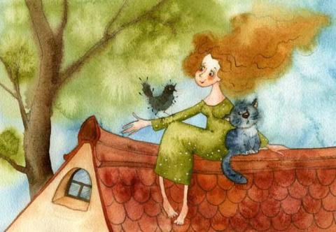 Сидела женщина с котом —  уютнейшее стихотворение о душевных разговорах