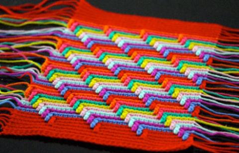 Узор «Слезы апачи»: вязание …