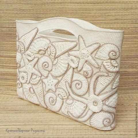 Декорируем пляжную сумку вяз…