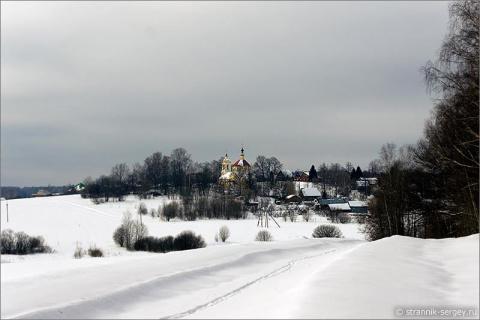 Россия, храмы,  зимний день