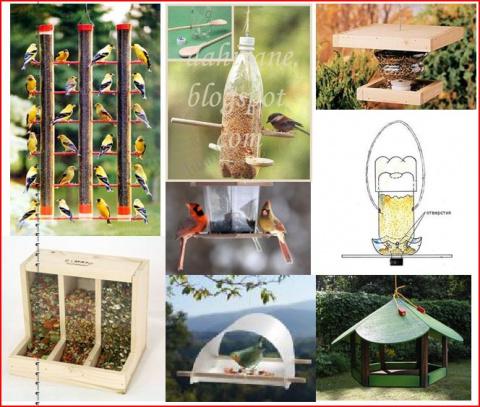 Кормушки для птиц - элемент декора