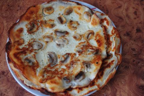 Блины с ПРИПЕКОМ (с грибами и с печенью)