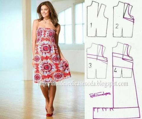 Простые выкройки летних платьев 25