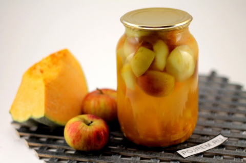 Компот из тыквы с яблоками