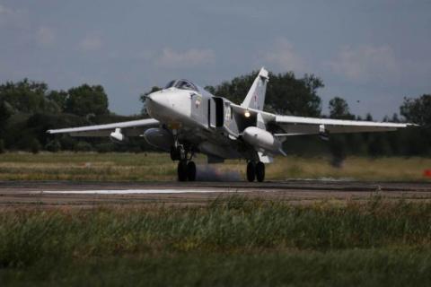 Экипажи Су-24М провели над К…